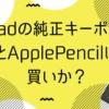 iPadの純正キーボードとApplePencilは買いか?レビュー